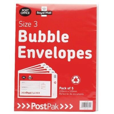 Post Office Bubble Envelope Size 3 Pack of 40 41631