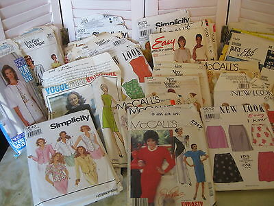 Vintage Lot 38 Sewing Patterns Vogue Simplicity McCalls New Look Butterick
