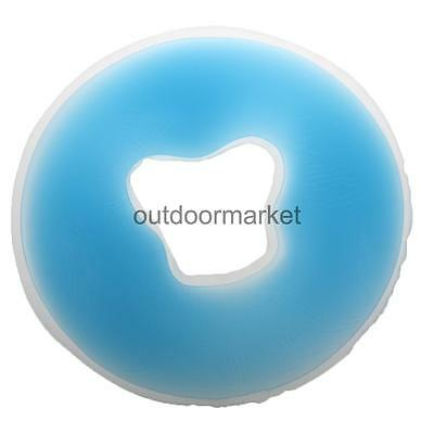 Comfortable Silicone Face Cradle Cushion SPA Back Neck Massage Pillow Blue