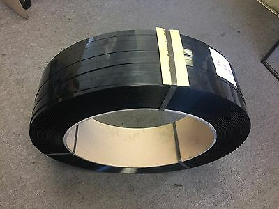 Polyester Strapping 15.5 x 0.9mm 1300M Black BALING STRAP