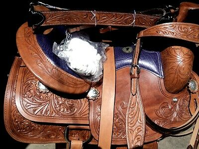 new western tack trail pleasure roping leather western saddle headstall reins