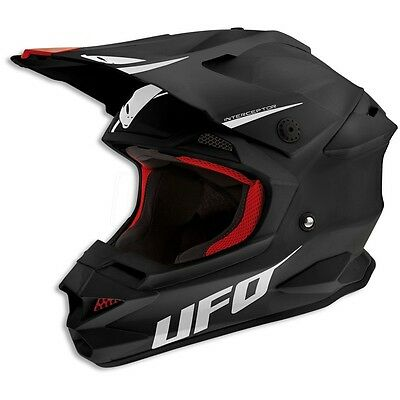 Size L - Helmet UFO Mx Helmet Interceptor Prime Black Shiny Black Cross Enduro