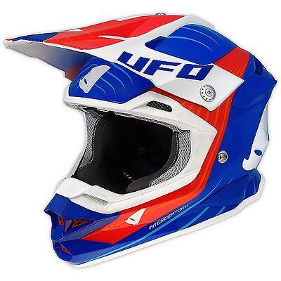 Size L - Helmet UFO Mx Helmet Interceptor Oblivion Blue Red Cross Enduro DH