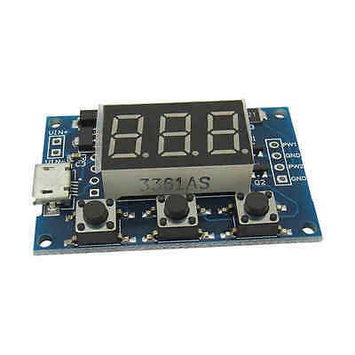 2 Channel PWM Generator Adjustable Duty Cycle Pulse Frequency Module