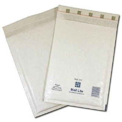 Mail Lite Bubble-Lined Postal Bag Self-Seal White 110x160mm 100pk MLW A/000
