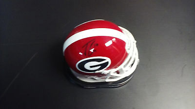 JACOB EASON Georgia Bulldogs SIGNED Mini Helmet PROOF