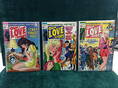 Our Love Story Run Issues 2-10 Steranko And Kirby Art