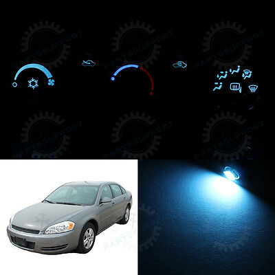 Ice Blue AC Temperature Climate Control Bulbs LED Lights for RAV4 NO AUTO 06-08