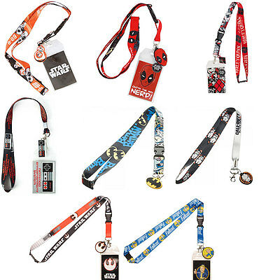 Officially Licensed Batman, FallOut, Deadpool Lanyard ID Holder Keychain