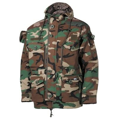 Tactical High Quality Outdoor Battle Jacket Defence Commando - Woodland Camo