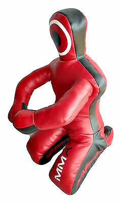 Bestzo MMA Brazilian Wrestling Grappling Dummy Bag Synthetic Leather Red