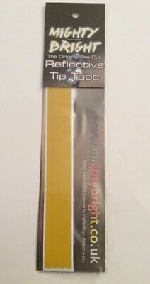 "Free P+P MIGHTY BRIGHT YELLOW REFLECTIVE ROD TIP TAPE 6""  Free P+P"