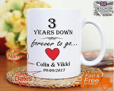 3rd Wedding Anniversary Gift 3 Years Marriage Any Dates Names