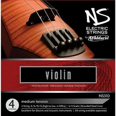 D'Addario NS310 NS Electric Violin Strings. Shipping is Free