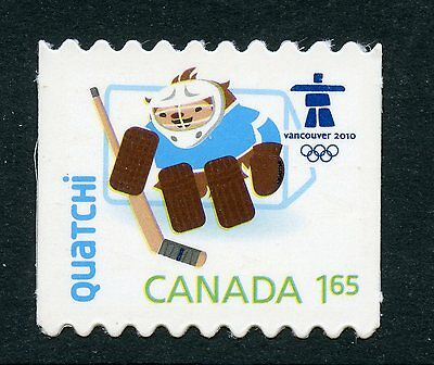 Weeda Canada 2313i VF NH Die cut Olympics Quatchi single from Annual Collection