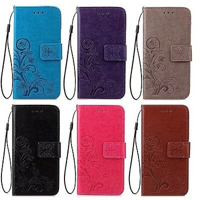 Coque Etui Housse Portefeuille Flower Luxe Cuir Neuf Samsung S5 S6 S7 Edge Case