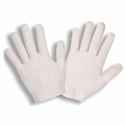 Cordova White Inspection Gloves Cotton Lisle Coin Jewlery 12 Pairs Lighweight