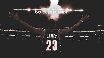LEBRON JAMES NBA CLEVELAND CAVALIERS Photo Quality Poster - Choose a Size! AA014