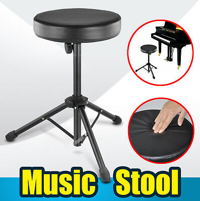 Black Foldable Music Guitar Throne Drum Stool for Drum Kit Rock Band Piano Seat