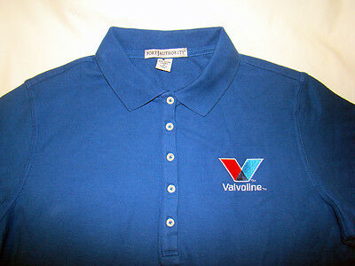 NEW Valvoline Racing Women Medium (M) Short Sleeve Golf Polo Shirt PortAuthority