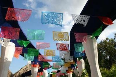 Set Of Three (3) Frida Kahlo Theme Mexican Papel Picado Banners Bunting Paper