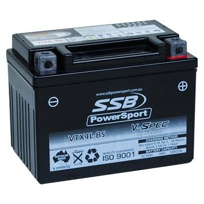 NEW SSB PowerSport V-Spec VTX4L-BS 12 Volt High Performance AGM 12V Battery