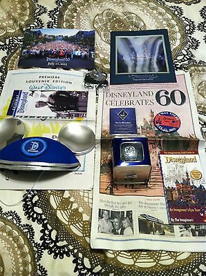 RARE Disneyland 60th Anniversary Cast Exclusive Package Bundle 8 items + 3 ITEMS