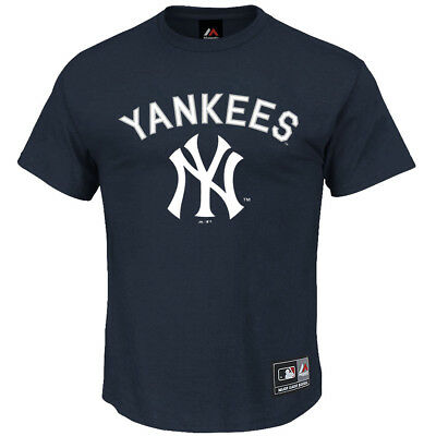 New York Yankees Majestic MLB Fanatic T-Shirt - Navy