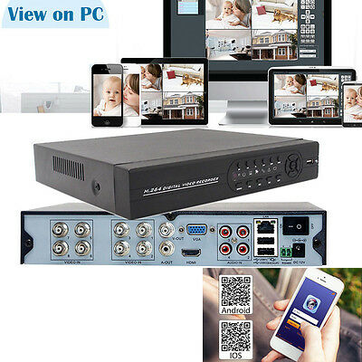 HDMI 8CH DVR H.264 Standalone Video Recorder Audio PTZ For CCTV Security Camera