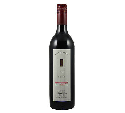 NEW Temple Bruer Preservative Free Shiraz 2014 Organic Wine