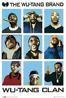 "The Wu-Tang Clan 24"" x 36"" Poster Print Unframed Free shipping"