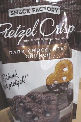 Snack Factory Pretzel Crisp Dark Chocolate Crunch School Dorm Snacks 20 oz 567g