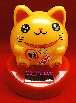 Nohohon Flip Flap Solar Powered Japanese Maneki Neko Lucky Cat #B