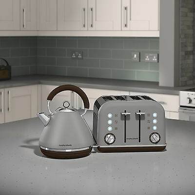 Morphy Richards 102102 - 242102 Accents Kettle & 4 Slice Toaster Set in Pebble