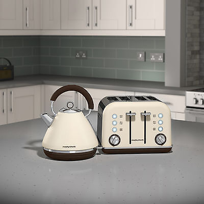 Morphy Richards 102101 - 242101 Accents Kettle & 4 Slice Toaster Set - Sand -NEW