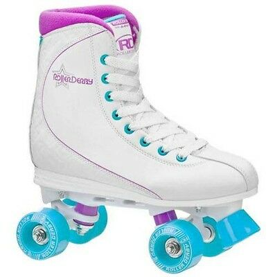 RDS Roller Star, Womans Quad High White Skates US Ladies Size 8
