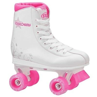 RDS Roller Star 350 Girls Quad High White Skates US Kids Sizes 1 - 5