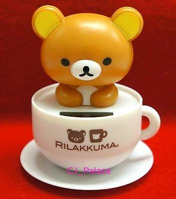 Nohohon Flip Flap Solar Powered Rilakkuma Teddy Bear in Coffee Cup - Tan Color