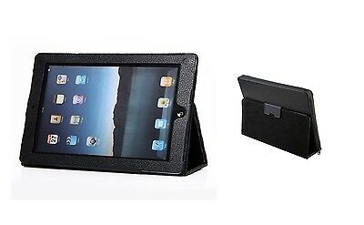 Leather Smart Case Stand for iPad 2/3/4+ Stylus pen+Screen Protector -Black