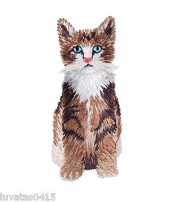 Cute Long Haired Cat Embroidered Motif Patch Applique Sew on/ Iron on