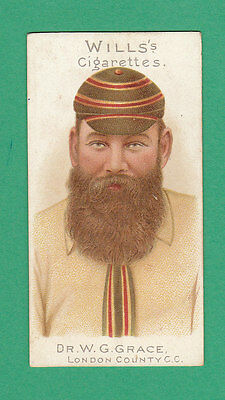 Cricket - Wills - Rare Cricketers Card No. 29 -  Dr.  W.  G.  Grace  - 1901