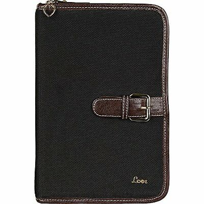 """Protec """"Love"""" Small/Thinline Book/Bible Cover Black"""