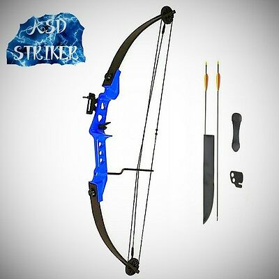Archery Striker Light Adult / Youth Kids Blue Compound Bow and Arrow Set Kit