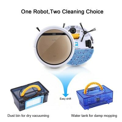 ILIFE V5S Pro Smart Robot Vacuum Floor Automatic Microfiber Dry/Wet Cleaner