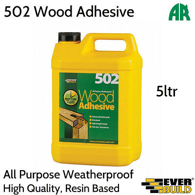 Everbuild 502 All Purpose Weatherproof Wood Adhesive | Resin Based | 5ltr