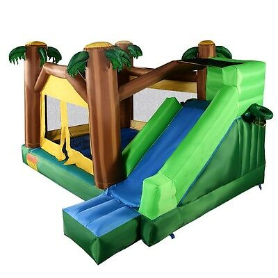 Inflatable Bounce House Moonwalk Jungle Jumper Bouncy Jump Bouncer Castle