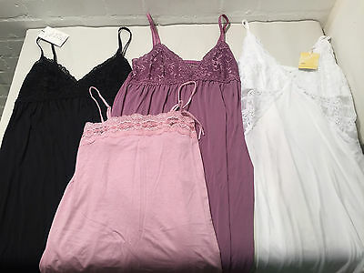 Lot Of 4 S/m Miss Nuvem Night Gowns / Slips / Chemise In Various Colours - Vr