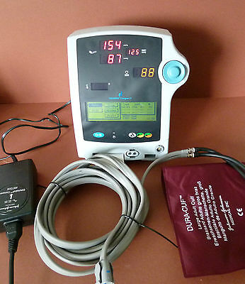 Critikon Dinamap Compact T J&J Patient Monitor With NIBP Adult Cuff and Hose