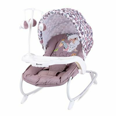 Lorelli Baby Rocker Swing Swinging Bouncer Chair Children Infant Beige Girl