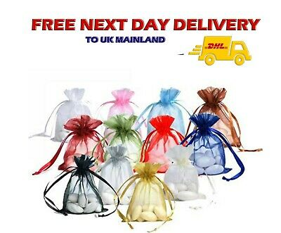 500 pcs LUXURY Premium 9cm x 7cm ORGANZA GIFT BAGS Jewellery Pouch XMAS Wedding